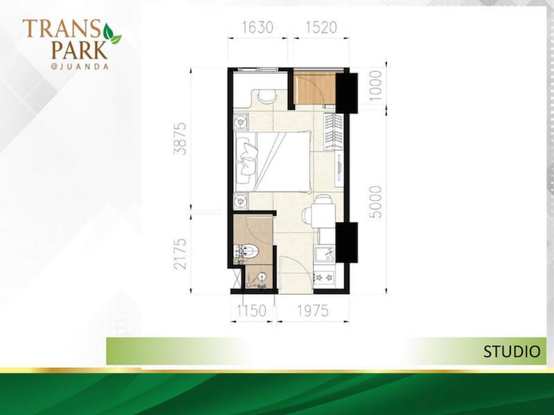 Tipe Studio Apartemen TransPark Juanda