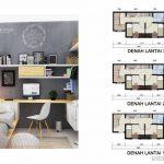 Denah Tipe Baru Alesha House Vanya Park BSD