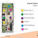 Denah Rumah Aryana Green - Aryana Karawaci