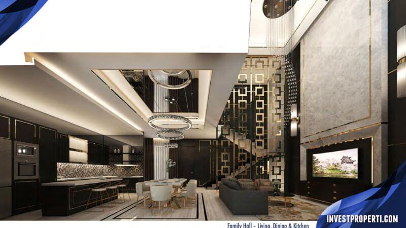Design Interior Rumah The Zora BSD - Living Room