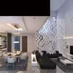 Design Interior Rumah The Zora BSD - Living Room
