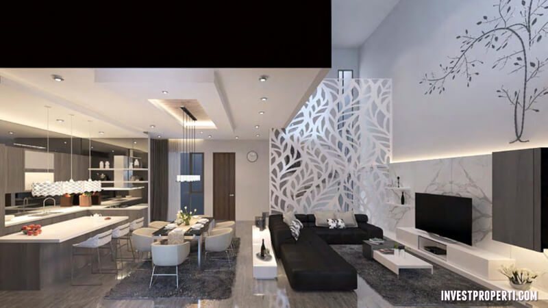 modern living room remodeling ideas. design interior rumah the zora bsd \u2013 living room modern remodeling ideas