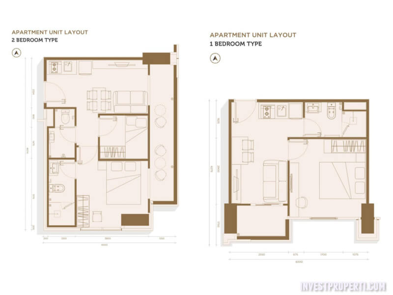 Denah Lantai Apartemen Solterra Place