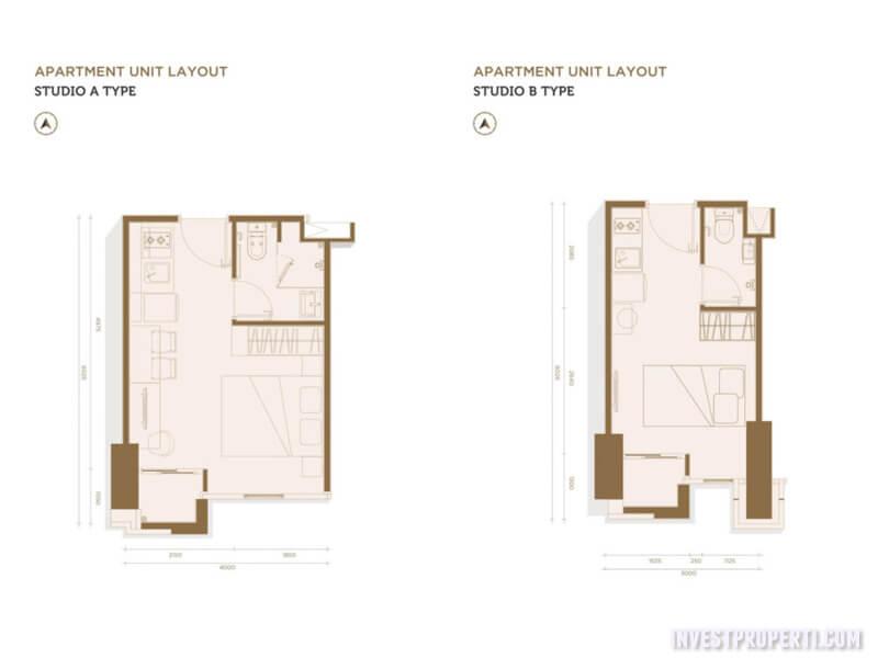 Denah Lantai Tipe Studio
