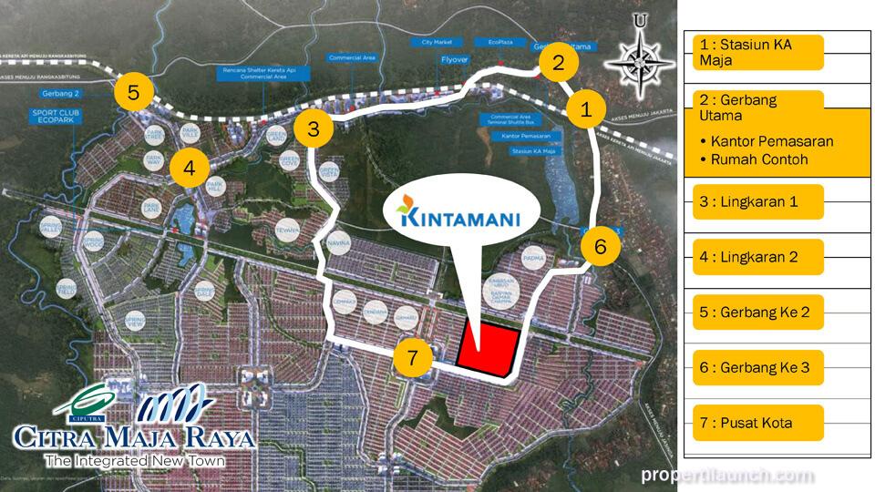 Lokasi Kawasan Kintamani Citra Maja Raya