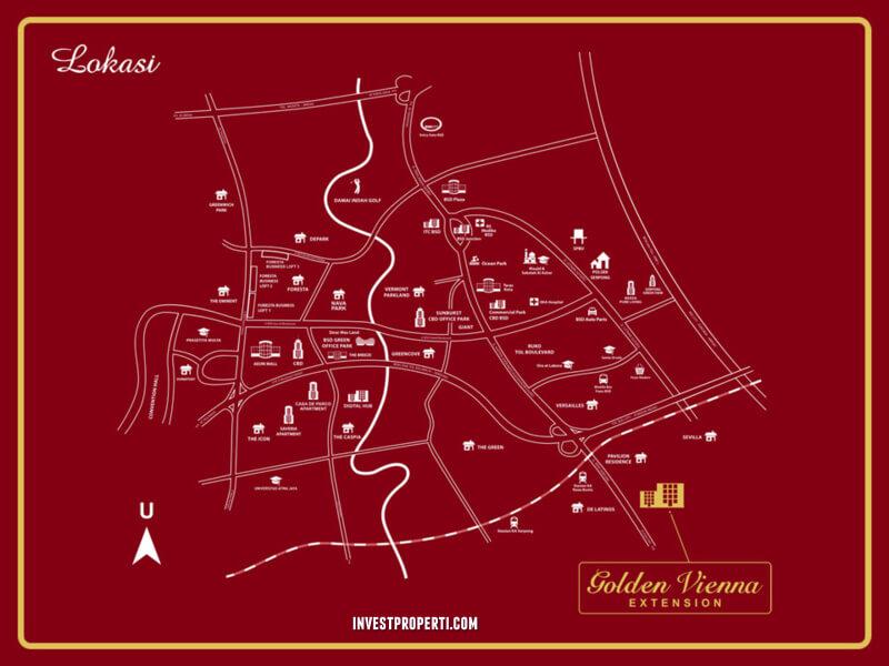 Lokasi Ruko Golden Vienna Extension