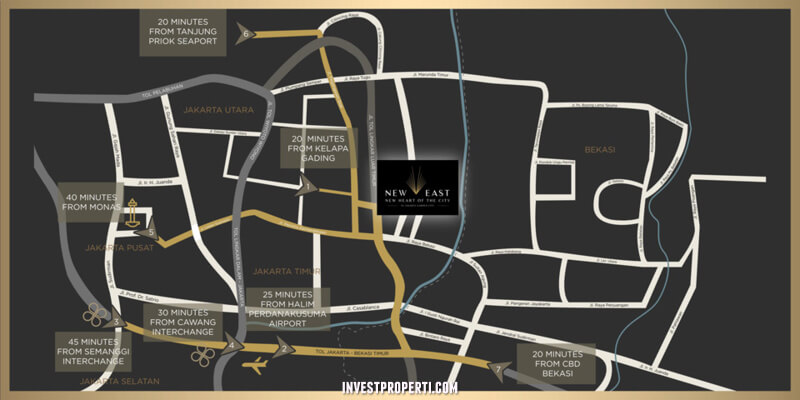 Lokasi Ruko New East Jakarta Garden City