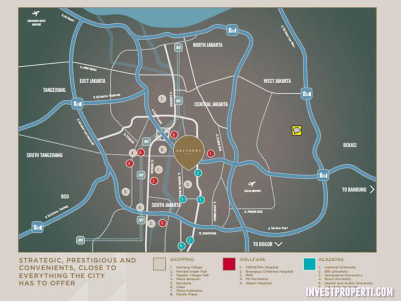 Peta Lokasi Apartemen Solterra Place Jakarta