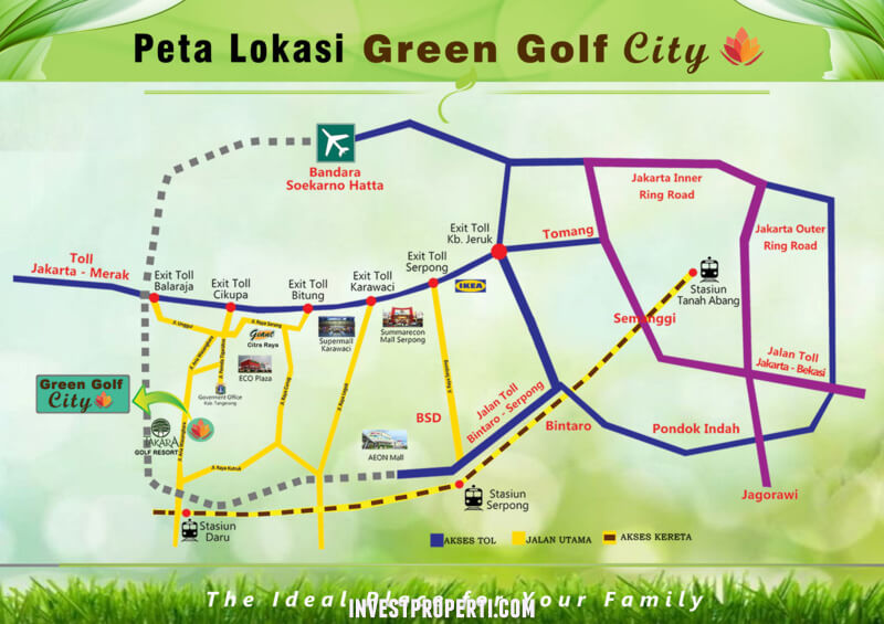 Peta Lokasi Green Golf City
