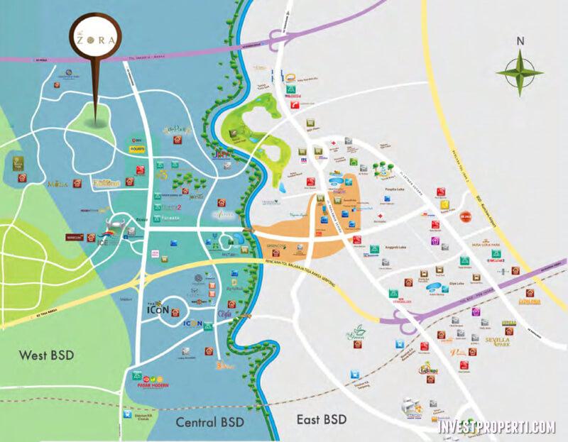 Peta Lokasi Perumahan Zora BSD