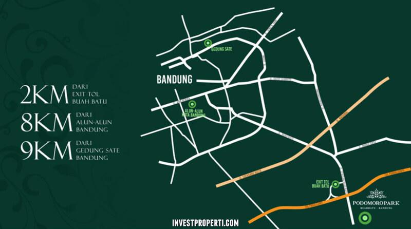 Peta Lokasi Podomoro Park Bandung