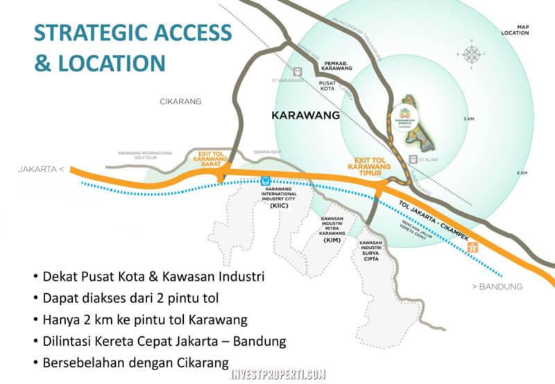 Peta Lokasi Summarecon Emerald Karawang