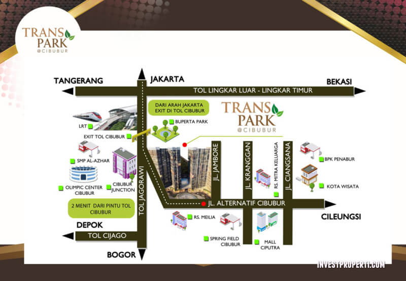 Peta Lokasi Trans Park Cibubur