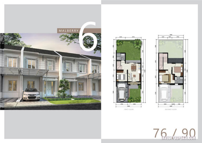 Rumah Cluster Malberry Tipe 6