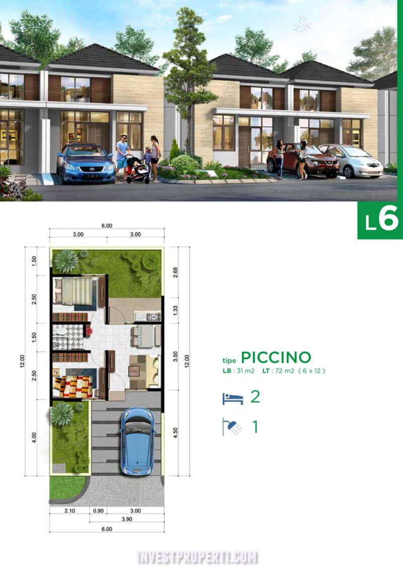 Tipe L6 Rumah Cluster West Portofino