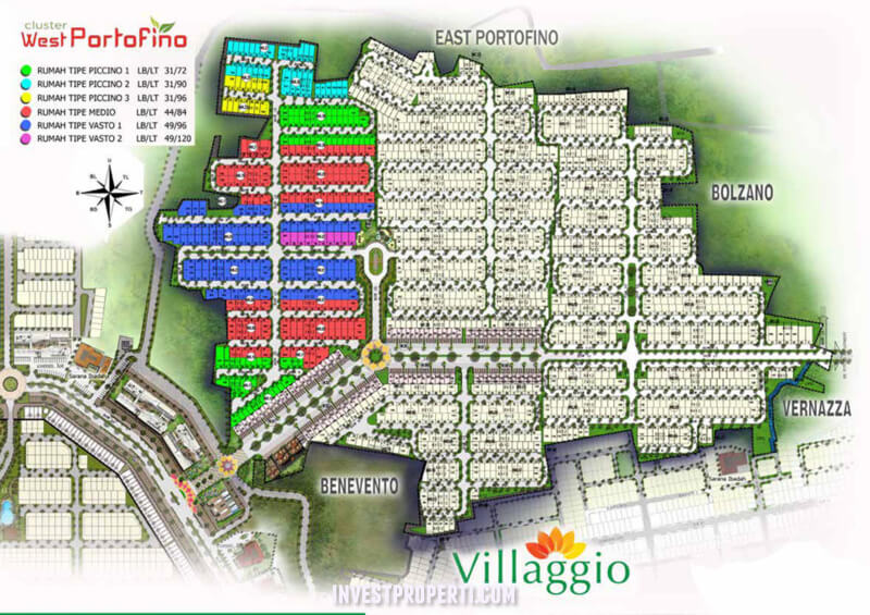 Site Plan Cluster Villaggio Citra Raya