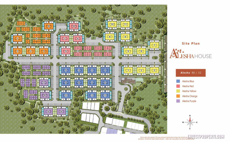 Site Plan Baru Alesha House Vanya Park BSD