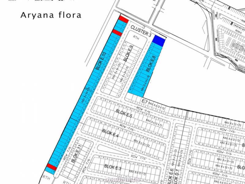 Site Plan Aryana Flora Karawaci