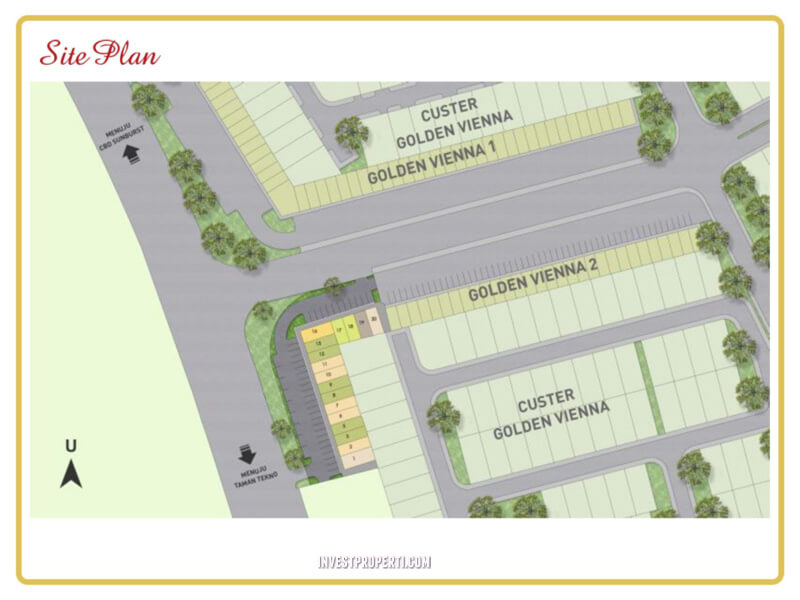 Site Plan Ruko Golden Vienna Ext BSD