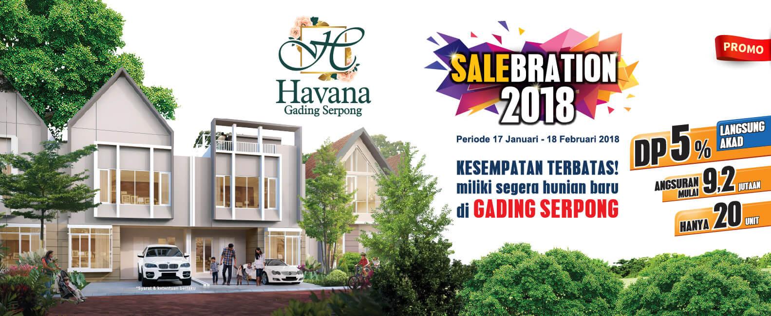 Promo 2018 Beli Rumah Cluster Havana Gading Serpong