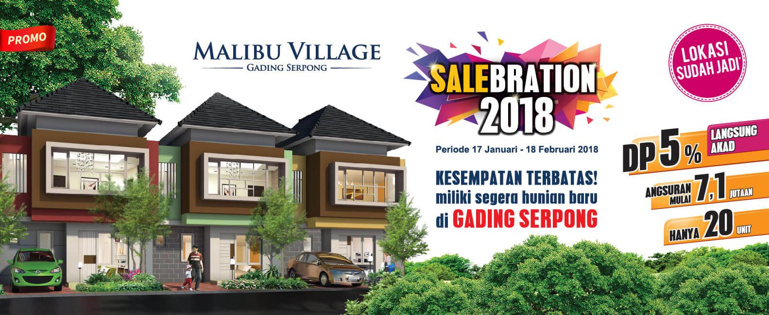 Promo 2018 Beli Rumah Cluster Malibu Gading Serpong