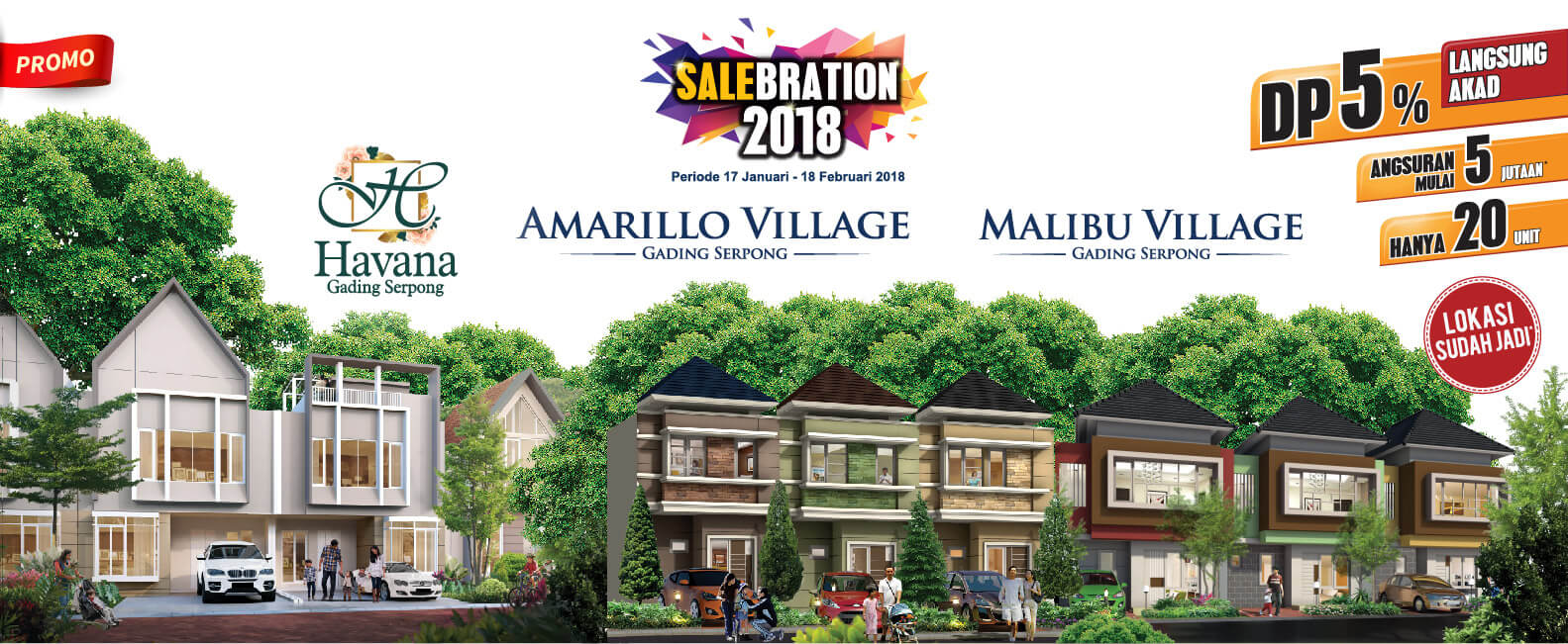 Promo 2018 Beli Rumah Distrik Malibu Gading Serpong