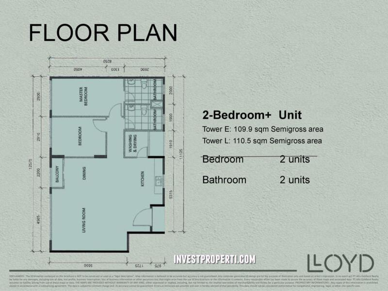 2 Bedroom+ LLOYD Alam Sutera