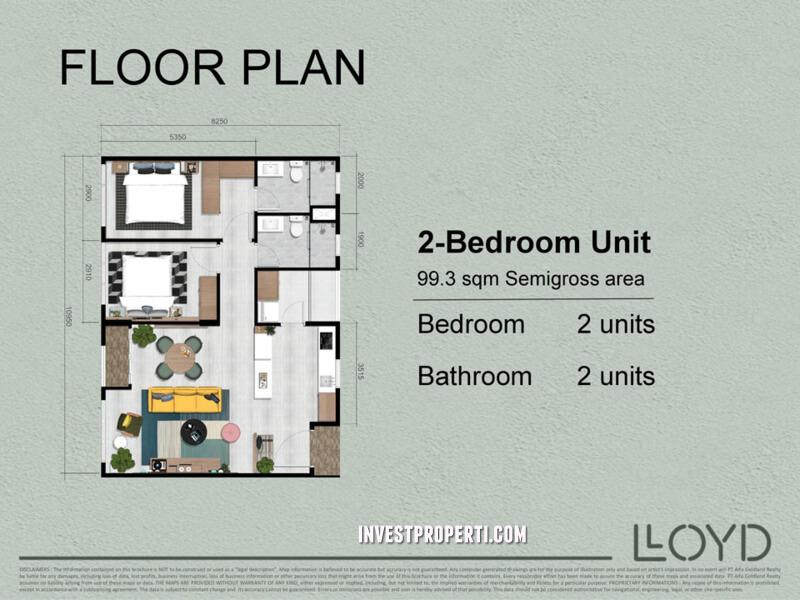 2 Bedroom LLOYD Alam Sutera