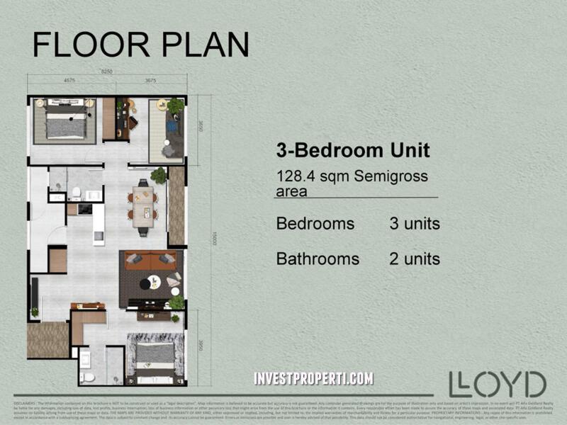 3 Bedroom LLOYD Alam Sutera