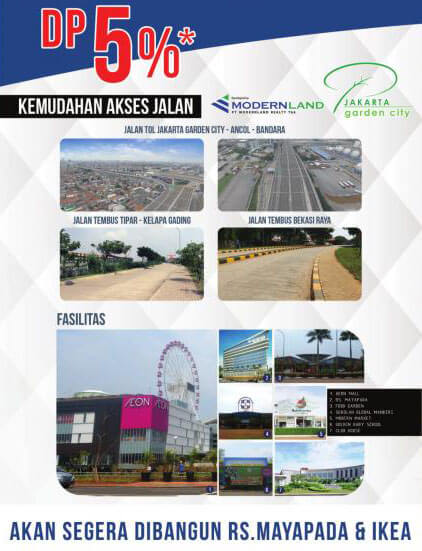 flyler terbaru jakarta garden city 2018