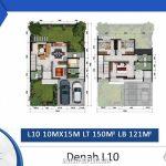 Denah Rumah Cluster Shinano Tipe L10
