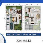 Denah Rumah Cluster Shinano Tipe L12