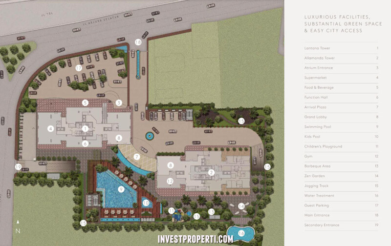 siteplan cluny residence jakarta