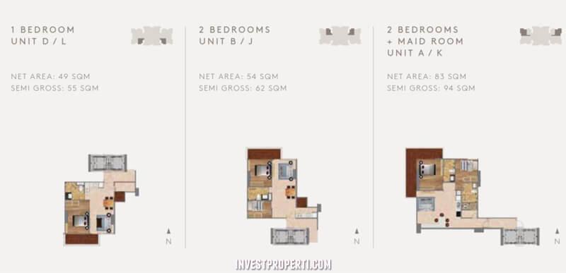 Tipe 1 dan 2 Bedroom