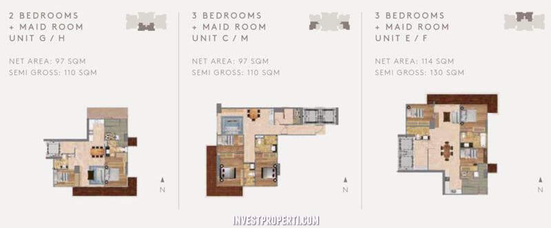 Tipe 2 dan 3 Bedroom
