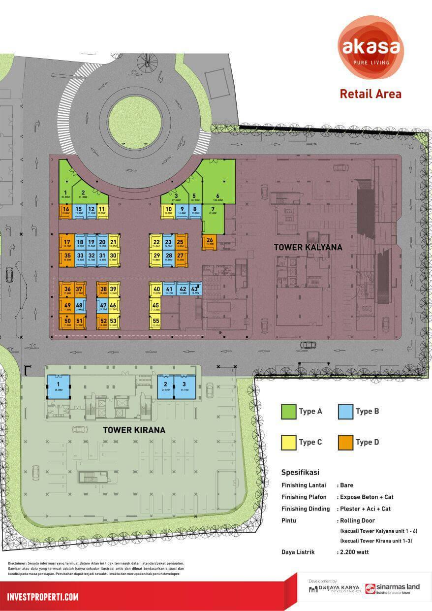 Kios Akasa BSD Site Plan