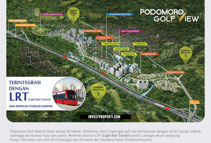 Master Plan Podomoro Golf View