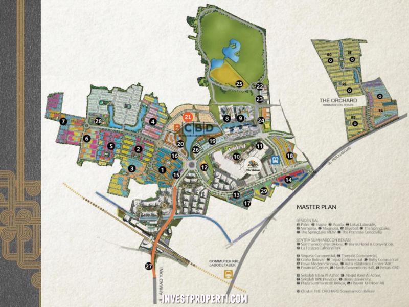 Peta Lokasi Bekasi CBD