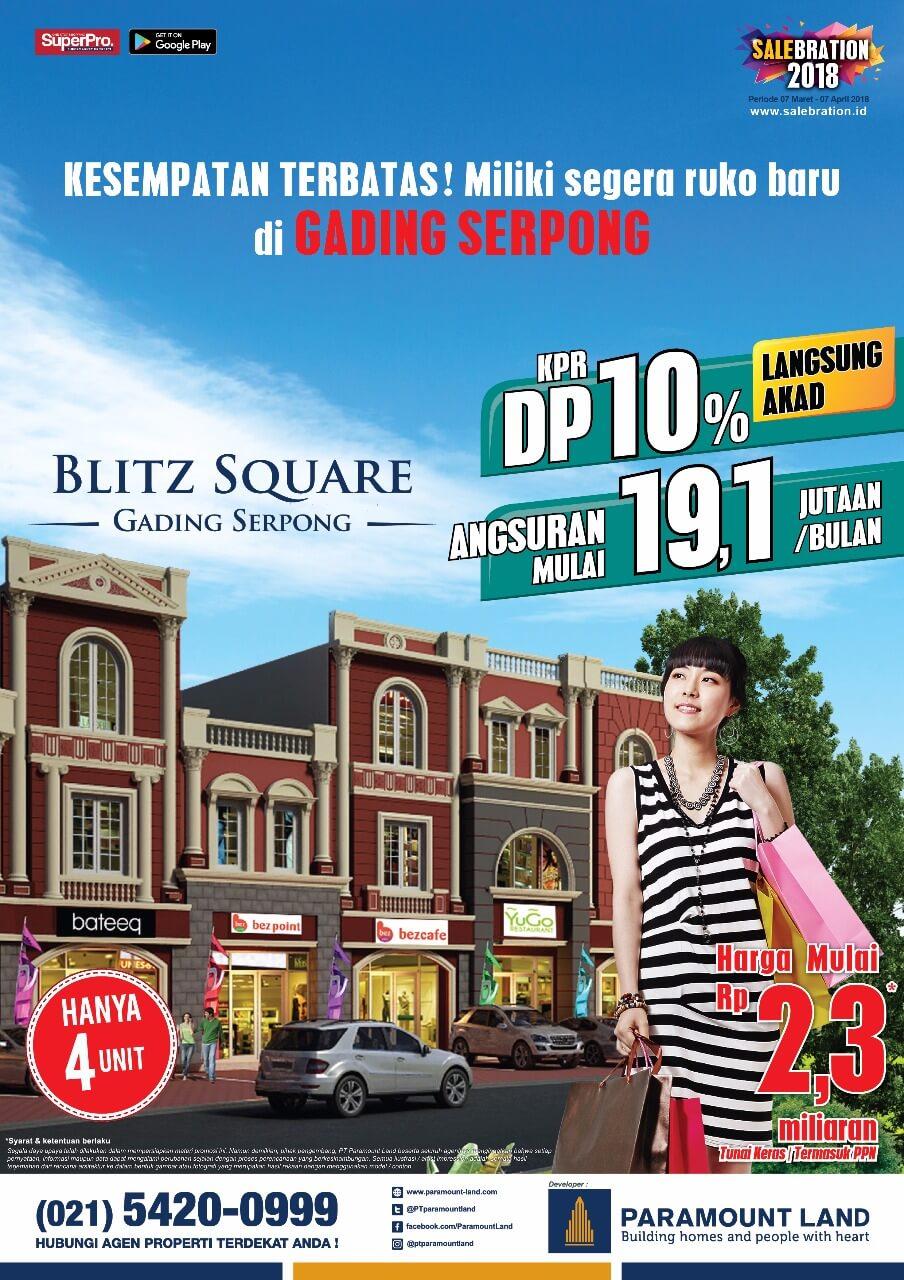 salebration ruko blitz square paramount 2018