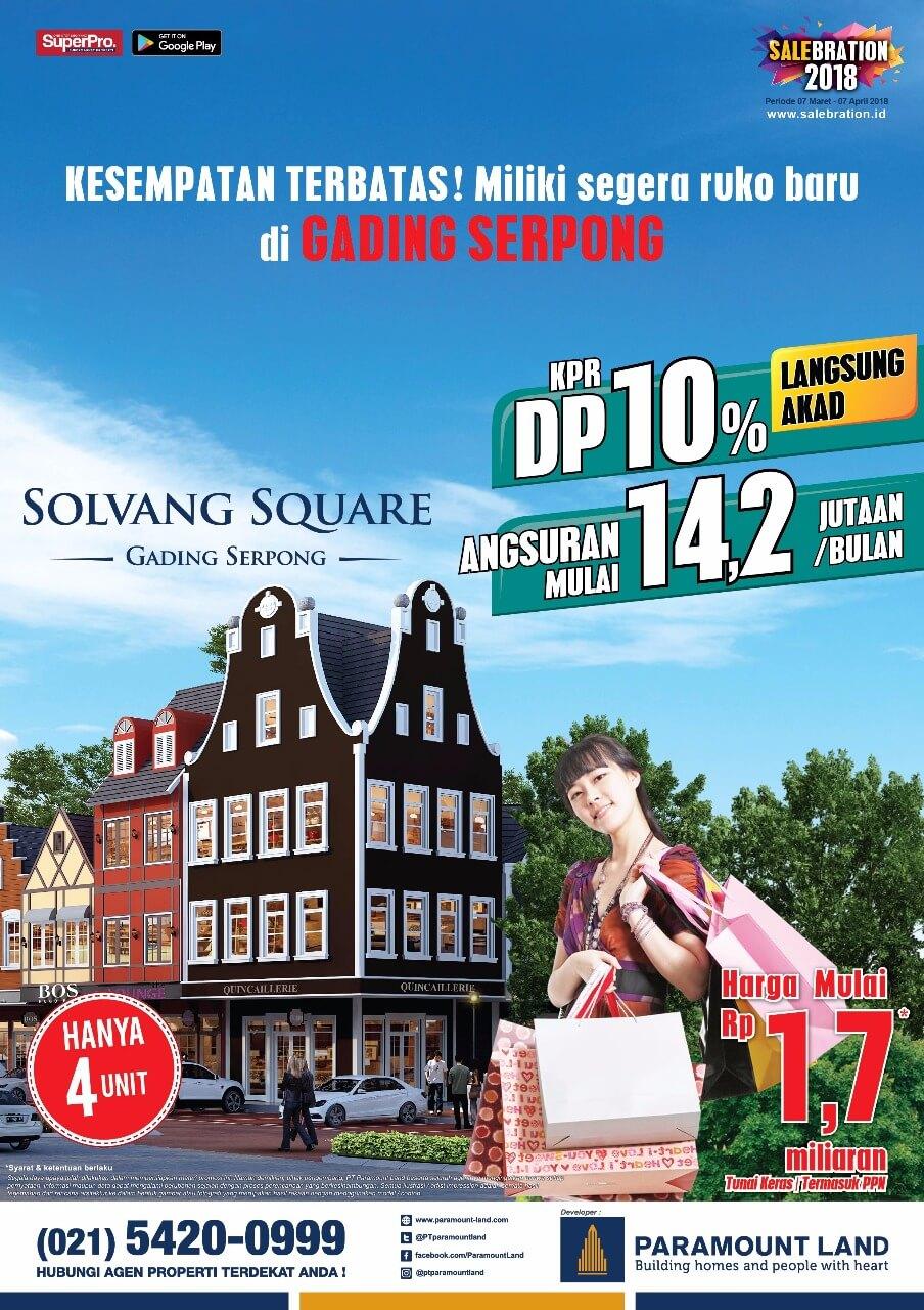 salebration ruko solvang square paramount 2018