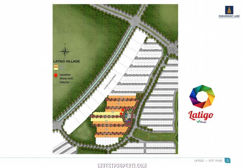Site Plan Rumah Latigo Gading Serpong