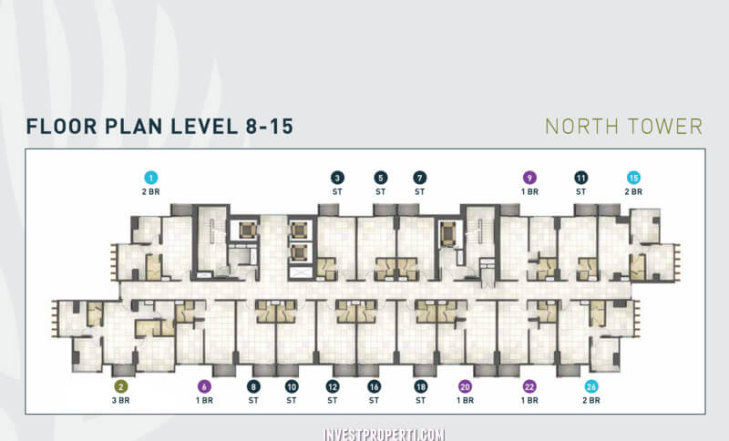 Floor Plan Level 8-15