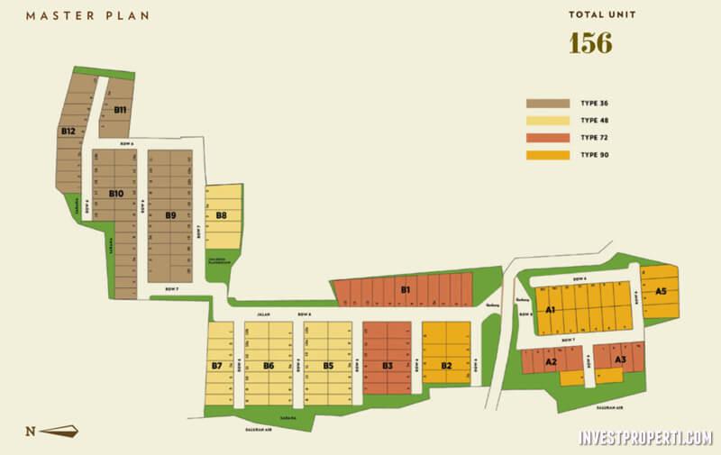 Master Plan Cluster Vinus 88 Tangerang