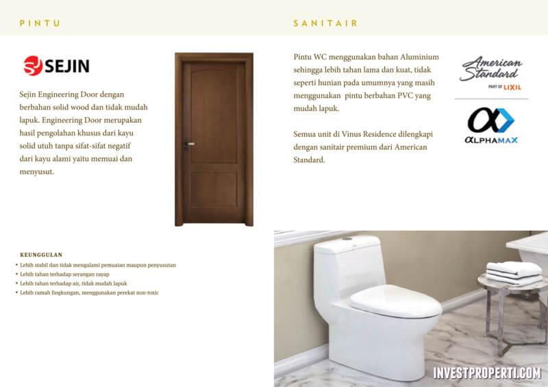 Pintu WC & Sanitair Air Rumah Vinus 88 Tangerang