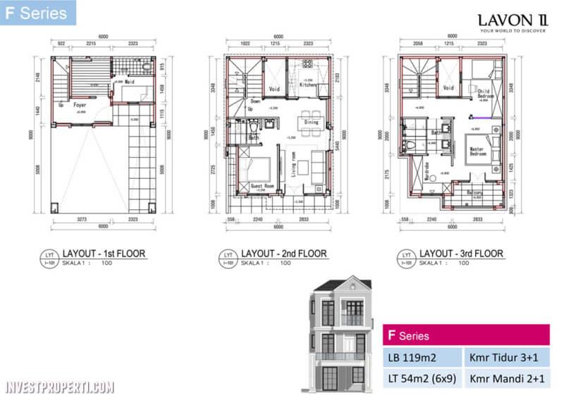 Rumah Lavon 2 Tangerang F Series Floor Plan