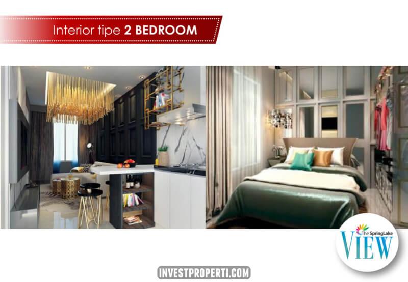 Show Unit Apartemen SpringLake View Bekasi Tipe 2 Bedroom