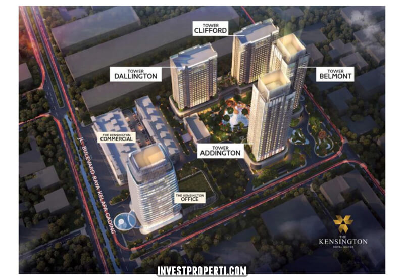 Kensington Royal Suites Kelapa Gading Site Plan