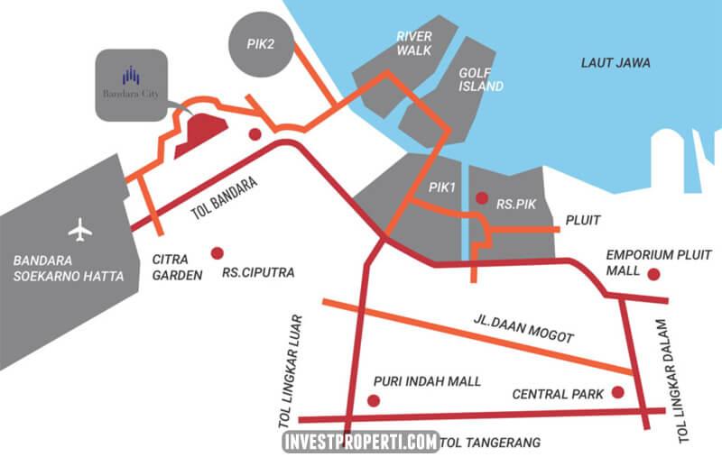 Peta Lokasi Bandara City Superblock