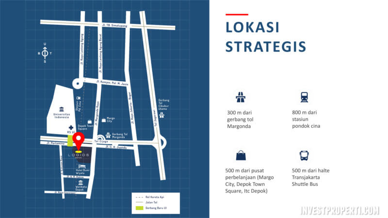Peta Lokasi Logios Depok