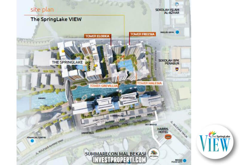 Site Plan The SpringLake View Apartemen
